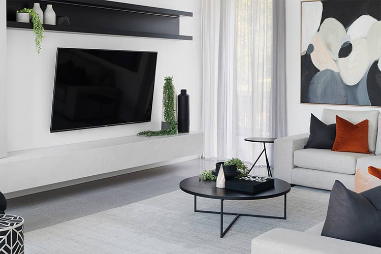 Melbourne Luxury Display Home Living Room